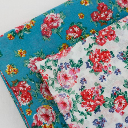 Large - asa fabric) Pink rose (two species)