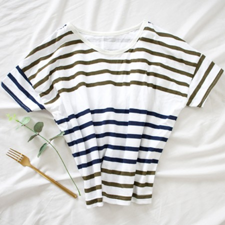 Large -30 number single Daimaru fabric) Two-tone stripe (Navy)