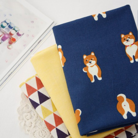 "20 woven fabrics) Deer dog (3 kinds) <div style=""display:none""> Fabric / shopping mall / Fabric / self-made / puppy making / pretty </div>"
