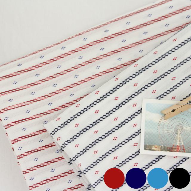 Rayon yoru fabric) Vintage rope (4 kinds)