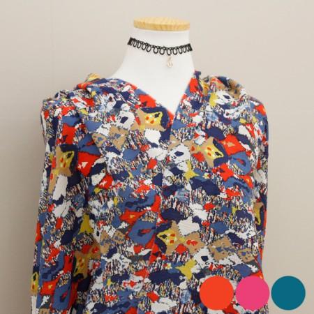 Large - Rayon yoru fabric) Cezanne (3 species)