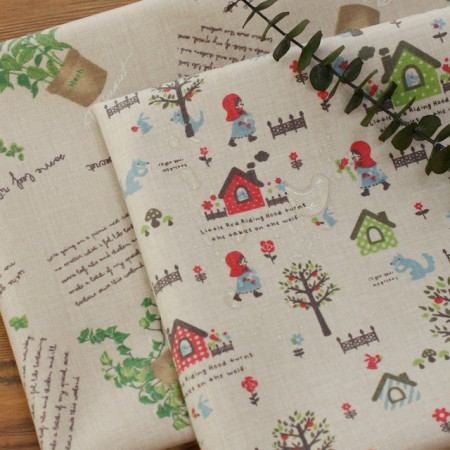 Large-laminate fabric) Herb garden (2 kinds)