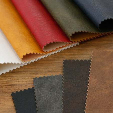 Large - imported artificial leather fabric) Crack plain (9 kinds) [TS-20014]