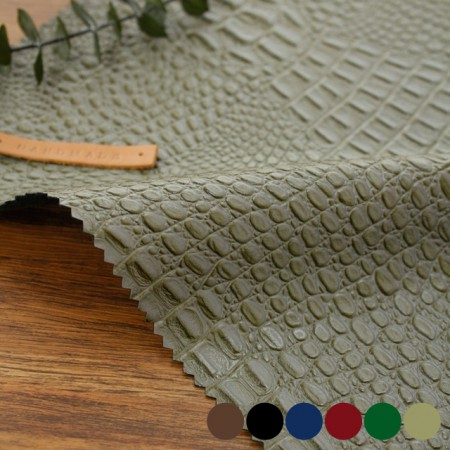 Large-imported artificial leather fabric) Alligator (6 kinds) [TS-20035]