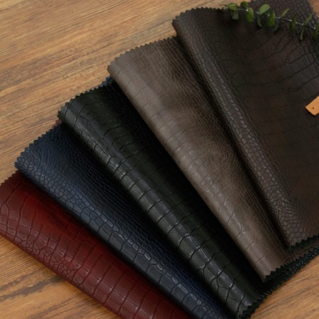 Greatly-Imported Artificial Leather Fabric) Soft Alligator (5 kinds) [TS-20040]