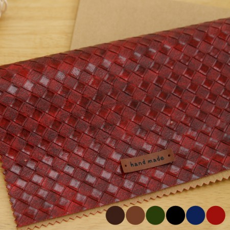 Large-imported artificial leather fabric) Modern check (6 kinds) [TS-20024]