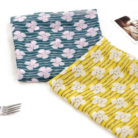 Large-chiffon fabric) Pansy blossom (two kinds)