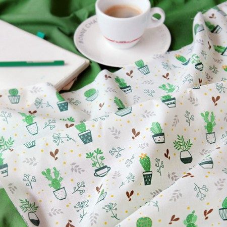 Large-cotton blend) Green pot [259]