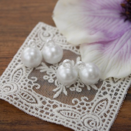 [4Piece] Pearl ring button (2 kinds)
