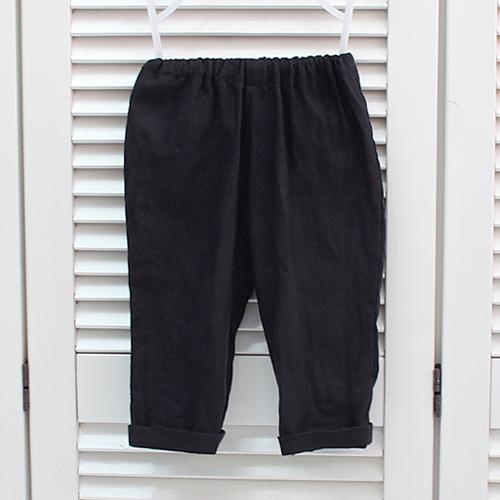 Linen (Black) -Sweet texture of Linen (Black)