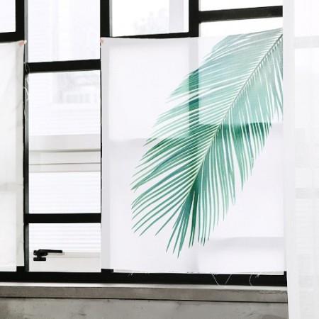 Classy linen cut paper) Botanical leaf