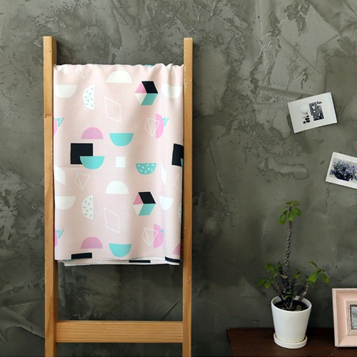 Large-classy linen) Plain Big Half (Pink)