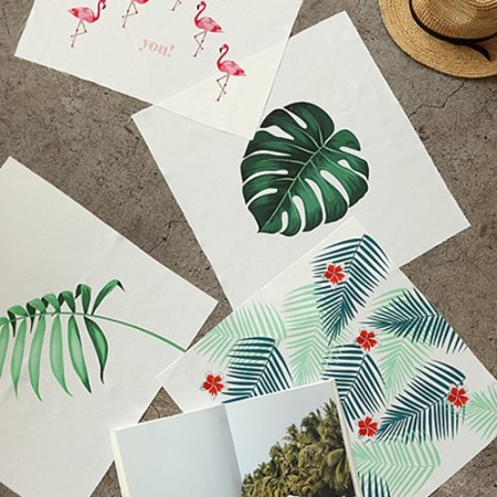 Classy linen cut paper) Tropical (4 kinds)