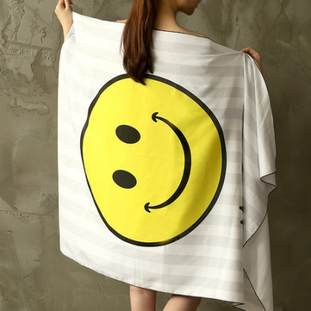 Ultra-dense microfiber sports towel) Mr Smile [003]
