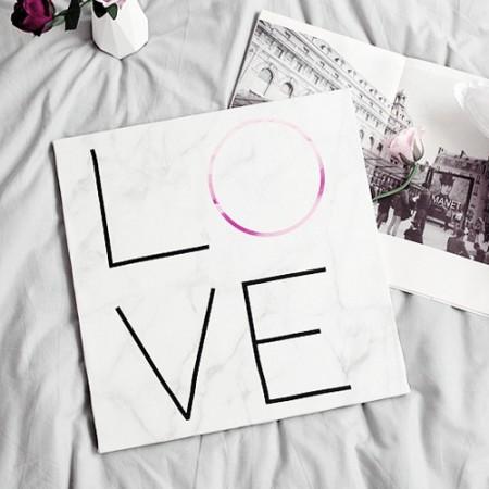 Classy linen cut paper) Marble Love (2 kinds)