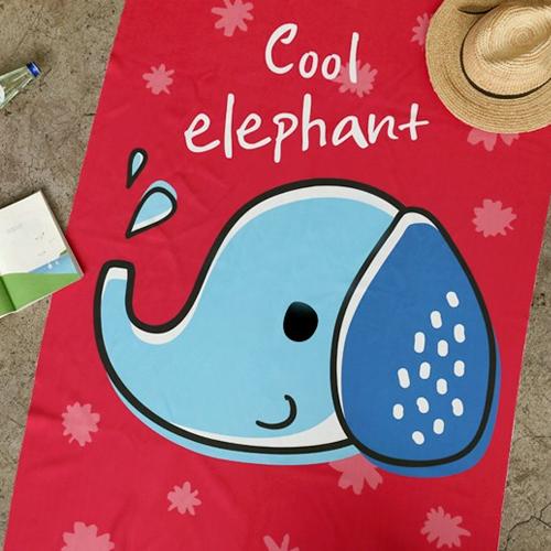 Ultra-dense microfiber sports towel) Cool Elephant [005]