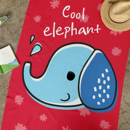 Ultra-dense microfiber sports towel) Cool Elephant [005]