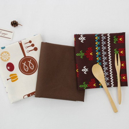 20 woven cloth) Brown table (3 kinds)