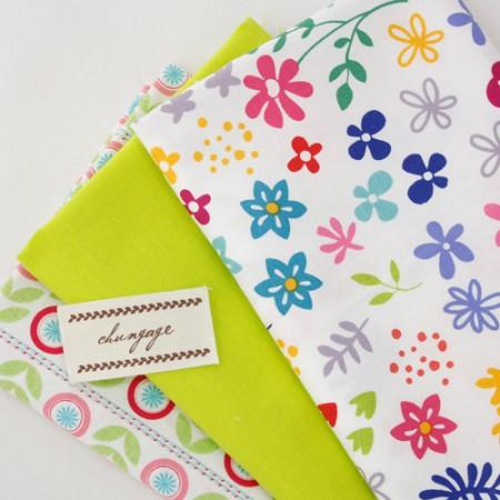 20 woven fabrics) Fresh green (3 kinds)