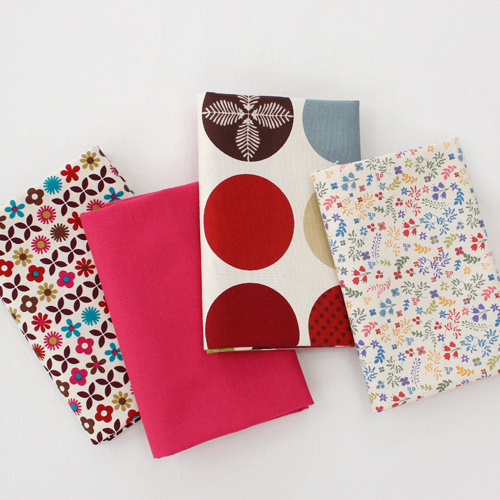 Cotton 20 Horizontal plain fabric) Dot flower (4 kinds)