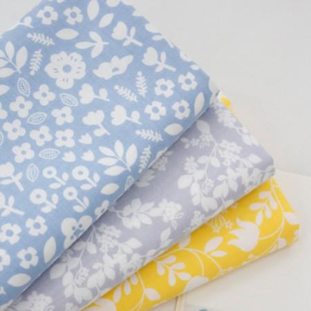 Cotton 20 Horizontal plain fabric) Triple Garden (3 kinds)