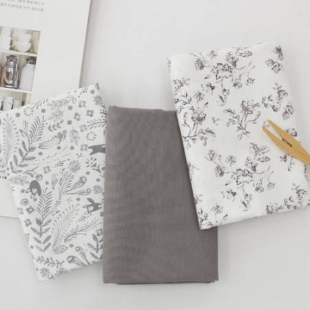 20 woven fabrics) Gray travel (3 species)