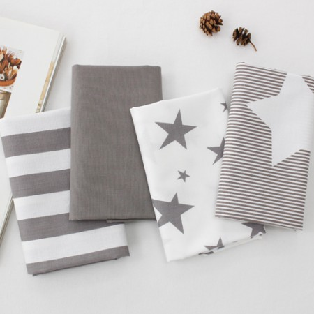 20 woven flat fabrics) Warm Gray Star (4 kinds)
