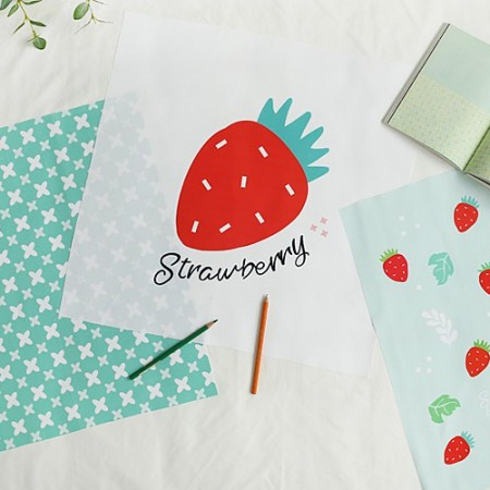 Classy linen cut paper) Strawberry (3 kinds)