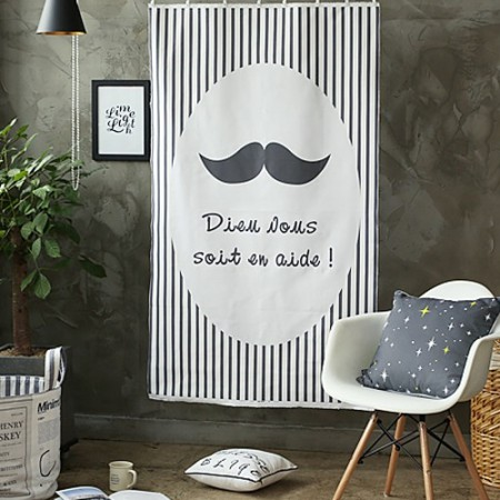 Large-classy linen battlefield cut) Nordic mustache