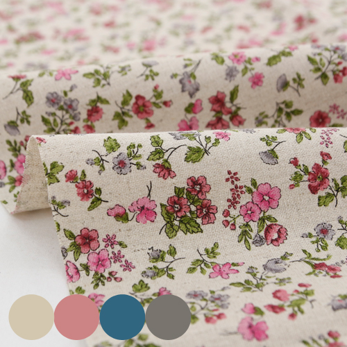 Large -11 can linen fabric) vintage pink (four species)