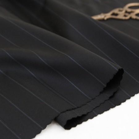 Large-wool silk fabric) Urban stripe