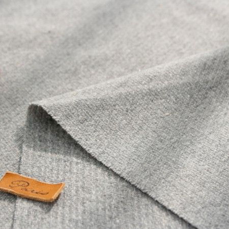 Largely-imported wool blend fabric) Pearl Gray