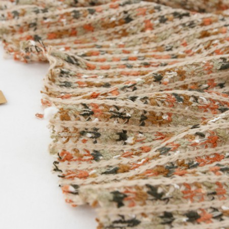 Wide-knit fabric knit) Natural orange