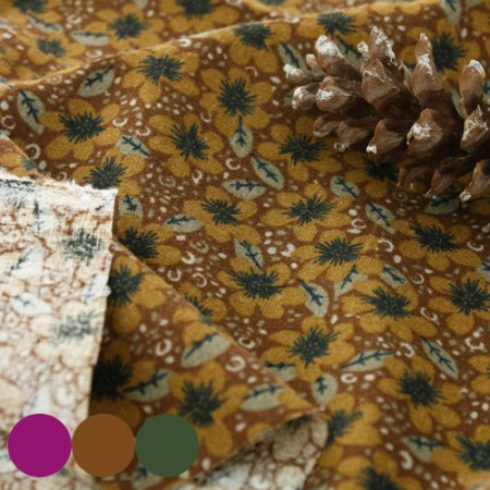Large-sized brushed fabric) Autumn Trip (3 kinds)
