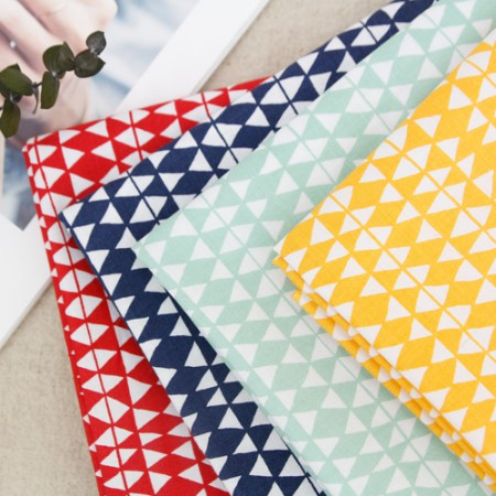 20 cotton fabric) Scandinavian triangle (4 kinds)