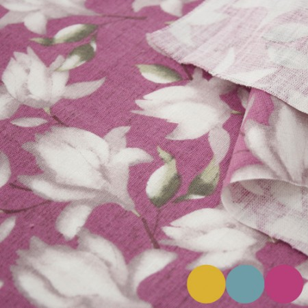 Linen fabric) Magnolia (3 kinds)