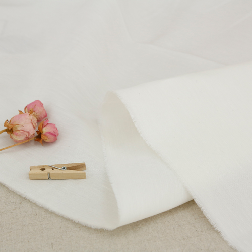 Largely-artificial linen fabric) White cream