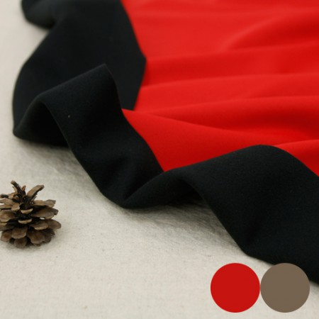 Large-sized sponge fabric) Red Beige (2 kinds)