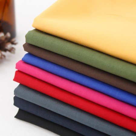 Cotton blend fabric) Color plain (9 kinds)