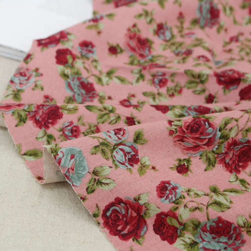 Largely-linen dyed fabric) vintage pink