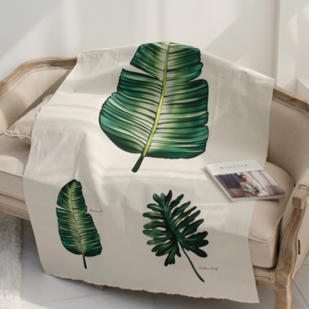 Linen cut paper) Botanical - banana leaf