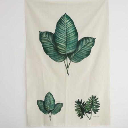 Linen cut ground) Botanical - Eucalyptus