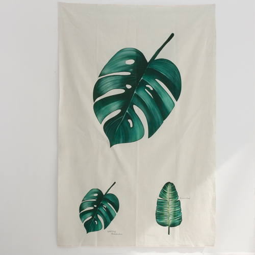 Linen cut paper) Botanical - Monstera