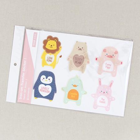 Iron sticker) Animal Friends