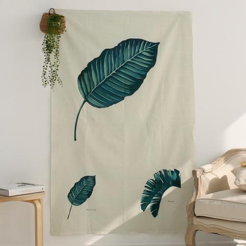 Linen cut paper) Botanical - Banana leaf
