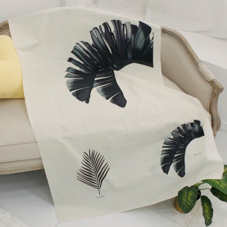 Linen cut) Botanical - Palm Tree