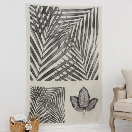 Linen cut) Botanical - Areca palm forest