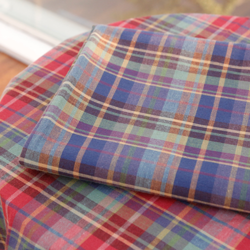 Large -20 water washing fabric) pastel check (two kinds)