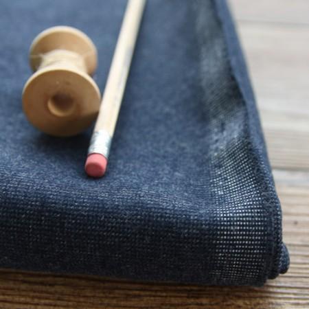 Large-size cotton brushed fabric) Dark Navy