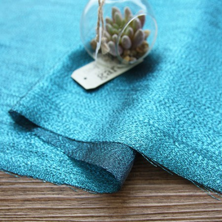 Greatly - Satin Pearl Fabric) Blue Green